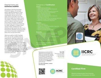 Certified Firm - IICRC