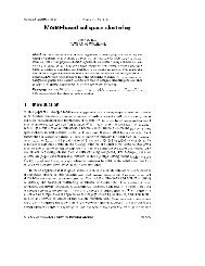 1, Number 1, pp. 1-24 Model-based subspace clustering Peter D ...
