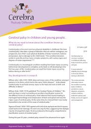 Cerebral palsy in children and young people.