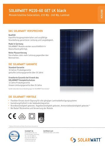 SOLARWATT M220-60 GET LK black, English