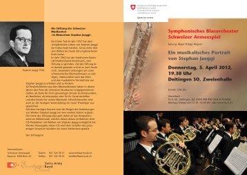 Symphonisches Blasorchester Schweizer Armeespiel Ein ...