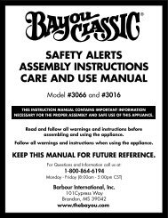 SAFETY ALERTS ASSEMBLY INSTRUCTIONS CARE AND USE ...
