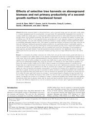 Effects of selective tree harvests on aboveground biomass - Forest ...