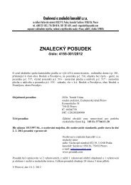 ZNALECKÝ POSUDEK číslo: 4155-301/2012 - e-aukce