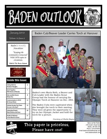 This paper is priceless, - The Baden Outlook