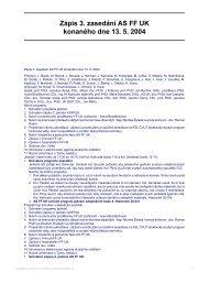 Zápis 3. zasedání AS FF UK konaného dne 13. 5. 2004