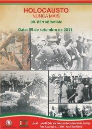 Folder Holocausto - nunca mais - Ministério Público do Estado do ...