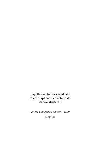 Tese completa em formato PDF - Departamento de Física ...