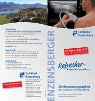 Arthrosonographie - Fachklinik Enzensberg