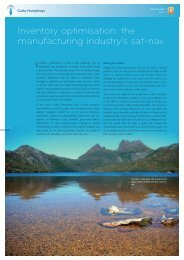 Inventory optimisation: the manufacturing industry's sat-nav