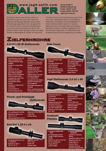 Zielfernrohre - Jagd - Optik Daller