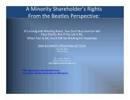 A Minority Shareholder's Rights From the Beatles Perspective: