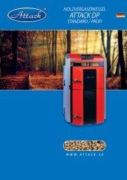 Holzvergaserkessel ATTACK DP – Prospekt