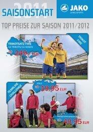 Zum Saisonstart Flyer 2011 - Jako