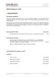 PREISLISTE gültig ab 1.3.2008 1. PREISE WEBDESIGN - MEDIARTS