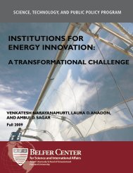 Institutions for Energy Innovation: A Transformational Challenge