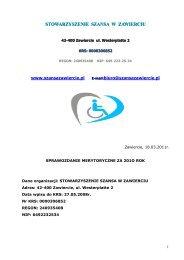 stowarzyszenie szansa w zawierciu - Wyszukiwanie Organizacji ...
