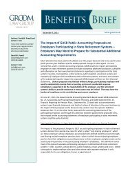 The Impact of GASB Public Accounting Proposals on Employers ...