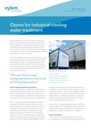 Ozone for industrial cooling water treatment - Water Solutions