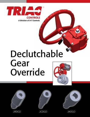 The Triac Declutchable Gear Override - AT Controls