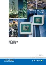 2-Wire Liquid Analyzer FLXA21 - Yokogawa