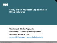 Study of IPv6 Multicast Deployment in MPLS Networks - 6Diss