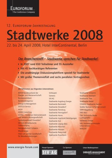 22. bis 24. April 2008, Hotel InterContinental, Berlin - TAM