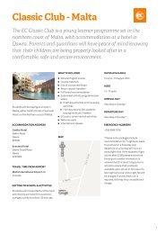 Classic Malta Club Accommodation