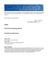 Food Processing Sector Food Processing Ingredients Japan