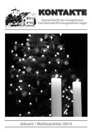 Advent/Weihnachten 2013 - Evangelische Paul-Gerhardt ...