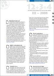 3. Quartal 2008 - des Rechenzentrums - Ruhr-Universität Bochum