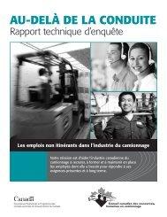 Au-delà de lA conduite - Canadian Trucking Human Resources ...