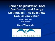Carbon Sequestration, Coal Gasification & Energy Distribution
