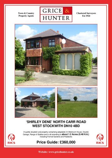 Price Guide: £360000 'SHIRLEY DENE' NORTH ... - Grice & Hunter