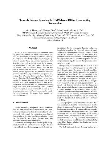 Markov Models for Handwriting Recognition - Gernot A. Fink