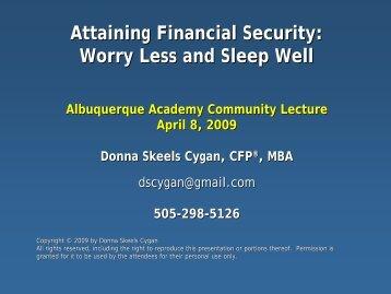 Stocks - Albuquerque Academy