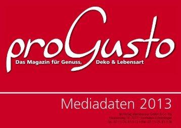 ProGusto Mediadaten 2013