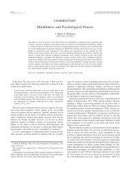 Mindfulness and Psychological Process - Oxford Mindfulness Centre