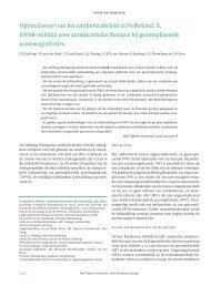 SWAB richtlijn Antimicrobiele therapie bij gecompliceerde ...