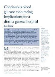 Continuous blood glucose monitoring - Journal of Diabetes Nursing