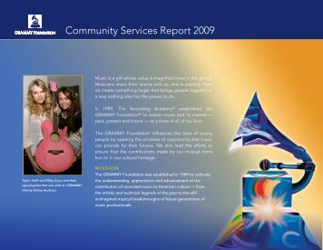 Community Services Report 2009 - Grammy Awards
