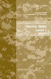 Warrior Skills Level 1 - Leader Development for Army Professionals