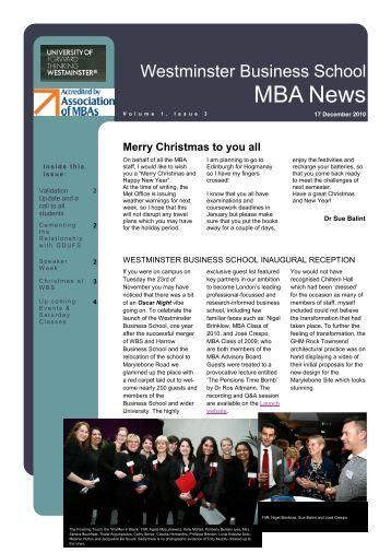 Issue 3, 17 December 2010 - University of Westminster