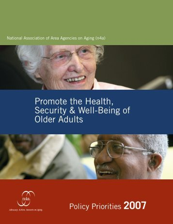 Promote the Health, Security & Well-Being of Older Adults - n4a