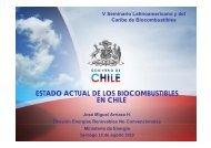 ESTADO ACTUAL DE LOS BIOCOMBUSTIBLES EN CHILE