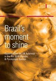 Rio 2016 Olympics Report 2011 - Construction Equipment Association