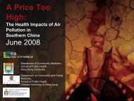 A Price Too High: The Health Impacts of Air ... - Civic Exchange
