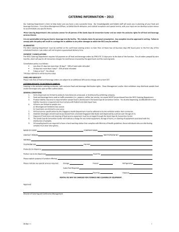Catering Service Form - HIMSS AsiaPac