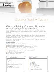 Clavister Building Corporate Networks Training Course
