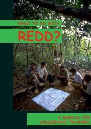 What to do with REDD? A Manual for Indigenous Trainers - iwgia